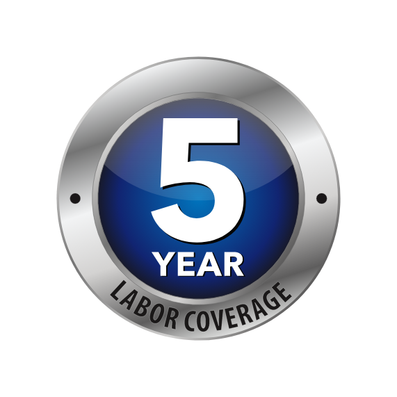 5 Year Limited Labor Warranty