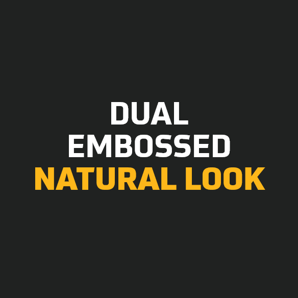 Dual embossing for a natural look